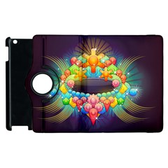 Badge Abstract Abstract Design Apple Ipad 2 Flip 360 Case by Nexatart