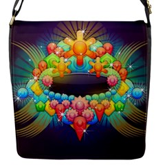 Badge Abstract Abstract Design Flap Messenger Bag (s)