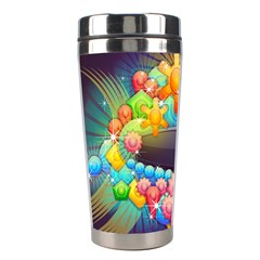 Badge Abstract Abstract Design Stainless Steel Travel Tumblers
