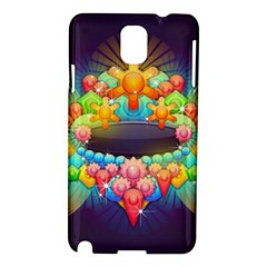 Badge Abstract Abstract Design Samsung Galaxy Note 3 N9005 Hardshell Case