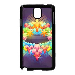 Badge Abstract Abstract Design Samsung Galaxy Note 3 Neo Hardshell Case (black)