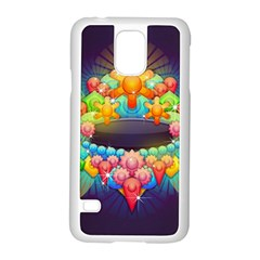 Badge Abstract Abstract Design Samsung Galaxy S5 Case (white)