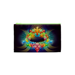 Badge Abstract Abstract Design Cosmetic Bag (xs)