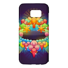 Badge Abstract Abstract Design Samsung Galaxy S7 Edge Hardshell Case by Nexatart