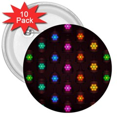 Lanterns Background Lamps Light 3  Buttons (10 Pack)
