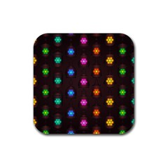 Lanterns Background Lamps Light Rubber Coaster (square)