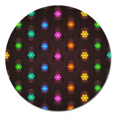 Lanterns Background Lamps Light Magnet 5  (round)