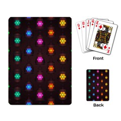 Lanterns Background Lamps Light Playing Card