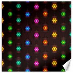 Lanterns Background Lamps Light Canvas 12  X 12