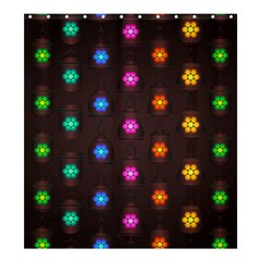 Lanterns Background Lamps Light Shower Curtain 66  X 72  (large)