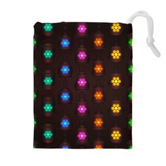Lanterns Background Lamps Light Drawstring Pouches (extra Large)