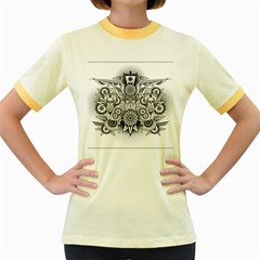 Forest Patrol Tribal Abstract Women s Fitted Ringer T Shirts