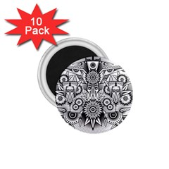 Forest Patrol Tribal Abstract 1 75  Magnets (10 Pack)  by Nexatart
