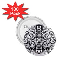 Forest Patrol Tribal Abstract 1 75  Buttons (100 Pack)