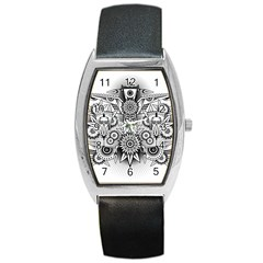 Forest Patrol Tribal Abstract Barrel Style Metal Watch