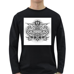 Forest Patrol Tribal Abstract Long Sleeve Dark T Shirts