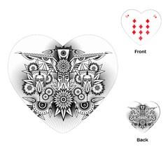 Forest Patrol Tribal Abstract Playing Cards (heart)