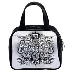 Forest Patrol Tribal Abstract Classic Handbags (2 Sides)