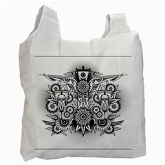 Forest Patrol Tribal Abstract Recycle Bag (one Side)
