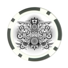 Forest Patrol Tribal Abstract Poker Chip Card Guard (10 Pack)
