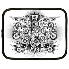 Forest Patrol Tribal Abstract Netbook Case (xxl)  by Nexatart