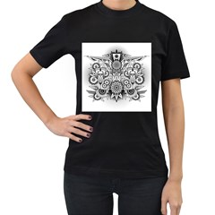 Forest Patrol Tribal Abstract Women s T Shirt (black)