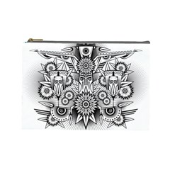 Forest Patrol Tribal Abstract Cosmetic Bag (large)