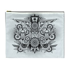 Forest Patrol Tribal Abstract Cosmetic Bag (xl) by Nexatart