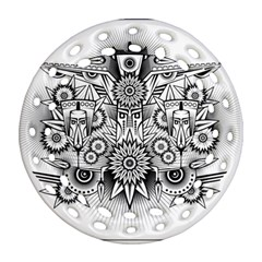 Forest Patrol Tribal Abstract Ornament (round Filigree)