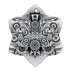 Forest Patrol Tribal Abstract Ornament (snowflake)