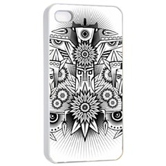 Forest Patrol Tribal Abstract Apple Iphone 4/4s Seamless Case (white) by Nexatart