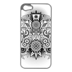 Forest Patrol Tribal Abstract Apple Iphone 5 Case (silver)