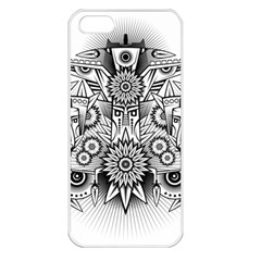 Forest Patrol Tribal Abstract Apple Iphone 5 Seamless Case (white)
