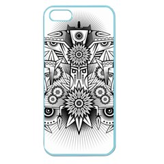 Forest Patrol Tribal Abstract Apple Seamless Iphone 5 Case (color) by Nexatart