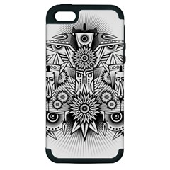 Forest Patrol Tribal Abstract Apple Iphone 5 Hardshell Case (pc+silicone) by Nexatart