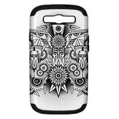 Forest Patrol Tribal Abstract Samsung Galaxy S Iii Hardshell Case (pc+silicone)