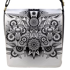 Forest Patrol Tribal Abstract Flap Messenger Bag (s)