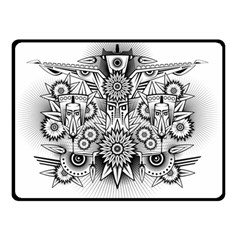 Forest Patrol Tribal Abstract Double Sided Fleece Blanket (small)  by Nexatart