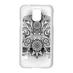 Forest Patrol Tribal Abstract Samsung Galaxy S5 Case (white)