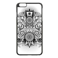 Forest Patrol Tribal Abstract Apple Iphone 6 Plus/6s Plus Black Enamel Case