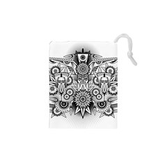 Forest Patrol Tribal Abstract Drawstring Pouches (xs)  by Nexatart