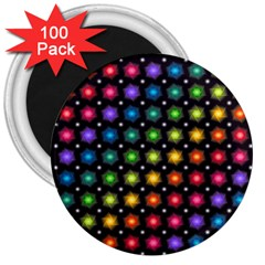 Background Colorful Geometric 3  Magnets (100 Pack)