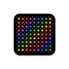 Background Colorful Geometric Rubber Coaster (square)