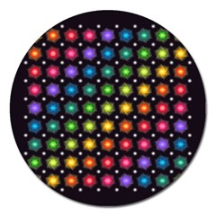 Background Colorful Geometric Magnet 5  (round) by Nexatart