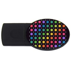 Background Colorful Geometric Usb Flash Drive Oval (4 Gb)