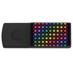Background Colorful Geometric Rectangular Usb Flash Drive