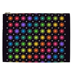 Background Colorful Geometric Cosmetic Bag (xxl)