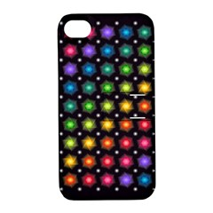Background Colorful Geometric Apple Iphone 4/4s Hardshell Case With Stand