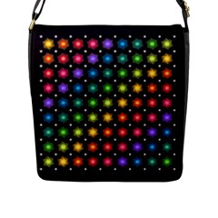 Background Colorful Geometric Flap Messenger Bag (l)  by Nexatart