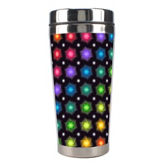 Background Colorful Geometric Stainless Steel Travel Tumblers